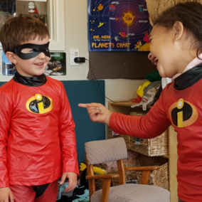 children playing dress up-preschool centre-Gumdrops Early Learning Centre Christchurch