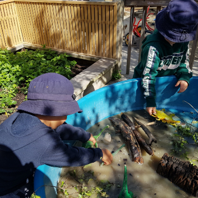 children outdoor messy play-Gumdrops Early Learning Centre-Christchurch
